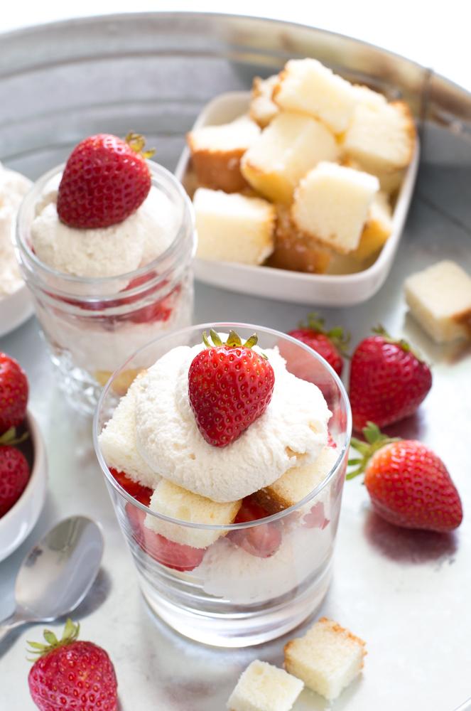Individual Strawberry Shortcake Trifle