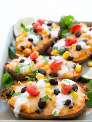 How To Make the Best Loaded Mexican Sweet Potato Skins
