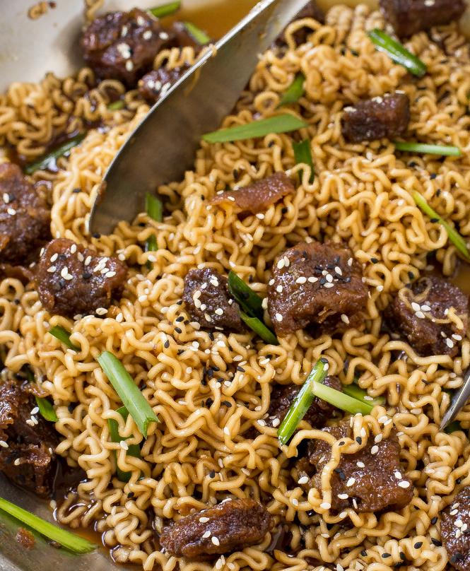 Mongolian Beef Ramen - Chef Savvy