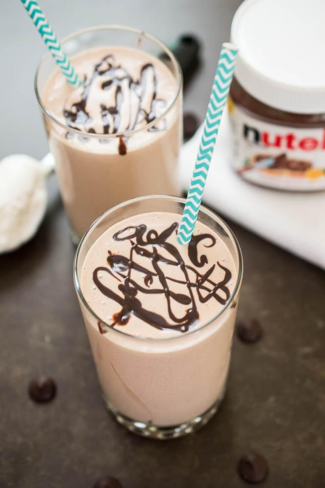 Nutella Milkshake | chefsavvy.com
