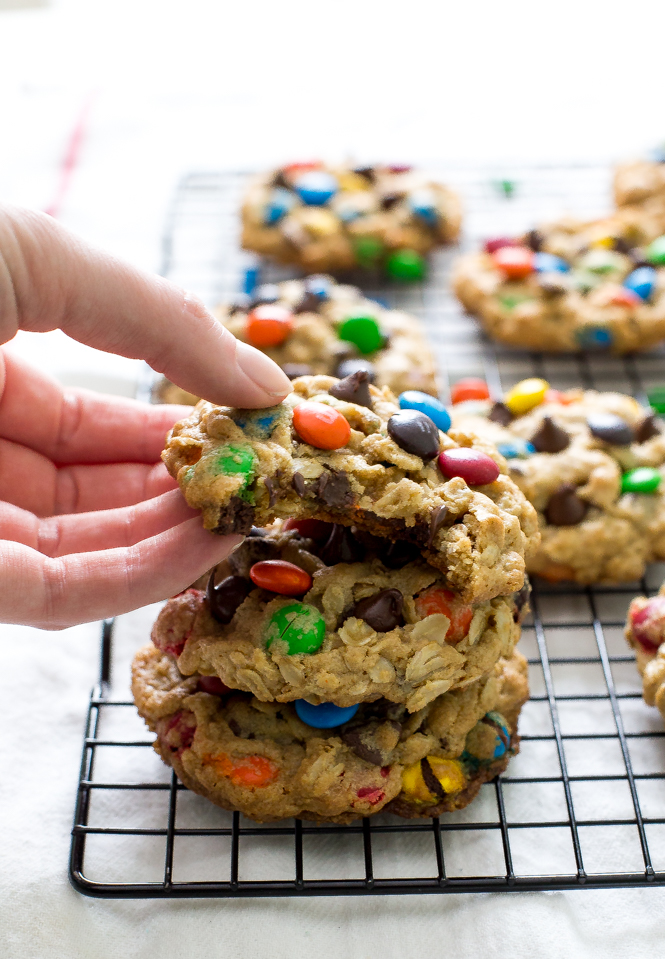 Oatmeal M & M Monster Cookies