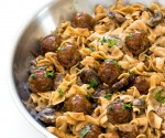 One Pan Meatball Stroganoff