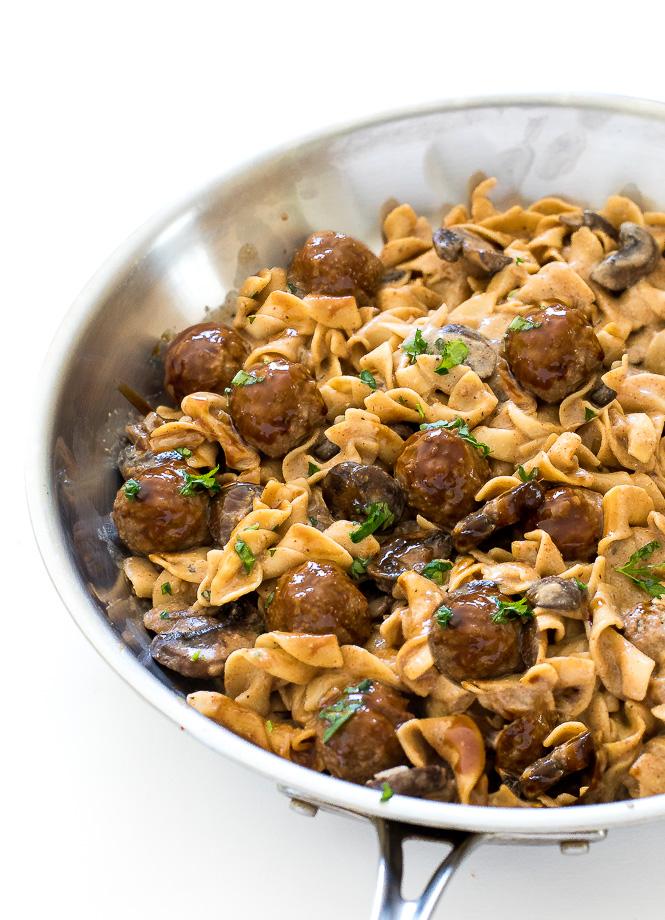 Meatball Stroganoff | chefsavvy.com