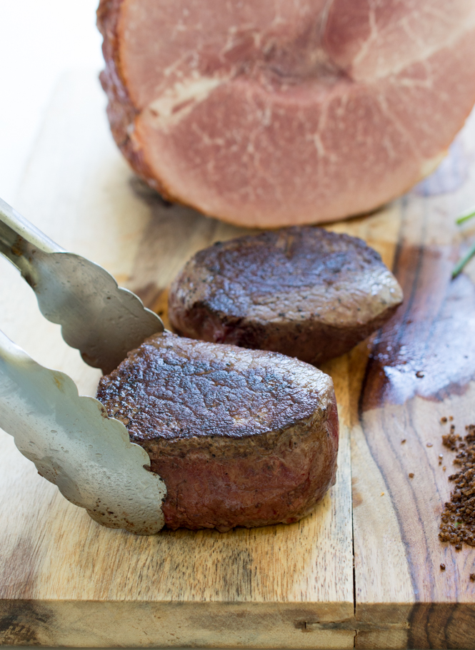 Pan-Seared Ribeye Filets with Espresso Sea Salt   chefsavvy.com #recipe #meat #beef #filet