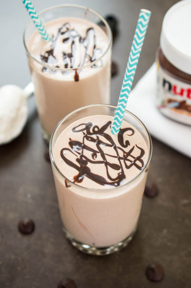 Peanut Butter and Nutella Milkshake | chefsavvy.com
