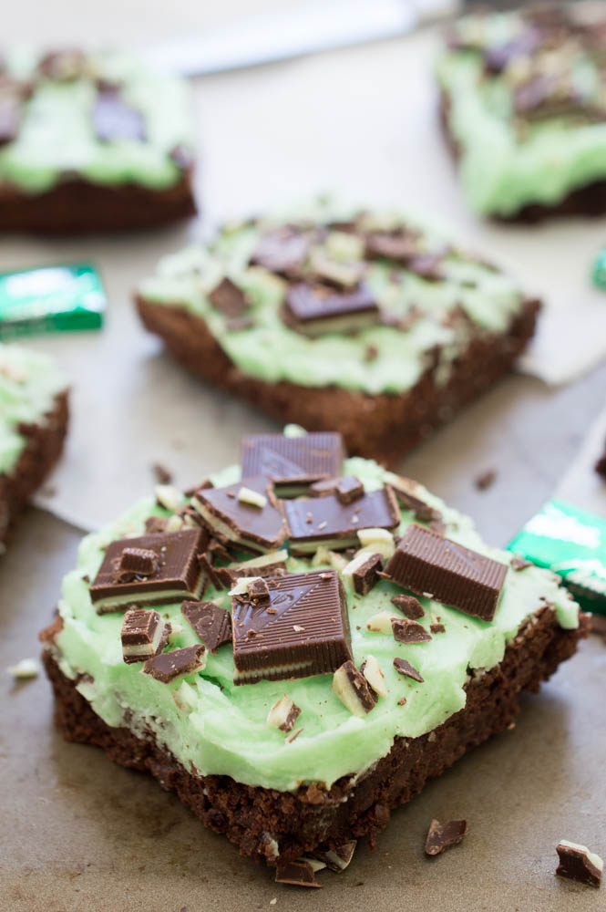 ... St Patty's Day with this decadent Chocolate Mint Andes Brownies