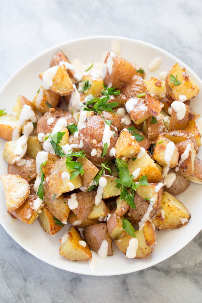 Roasted Potatoes with Aioli | chefsavvy.com