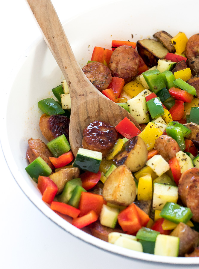 One Pan Sausage and Vegetable Skillet