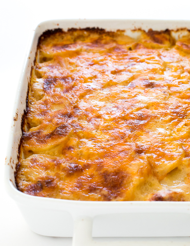Cheesy Scalloped Potatoes Recipe | chefsavvy.com
