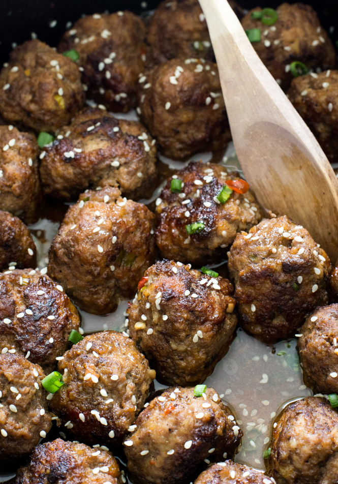 Slow Cooker Easy Sesame Meatballs
