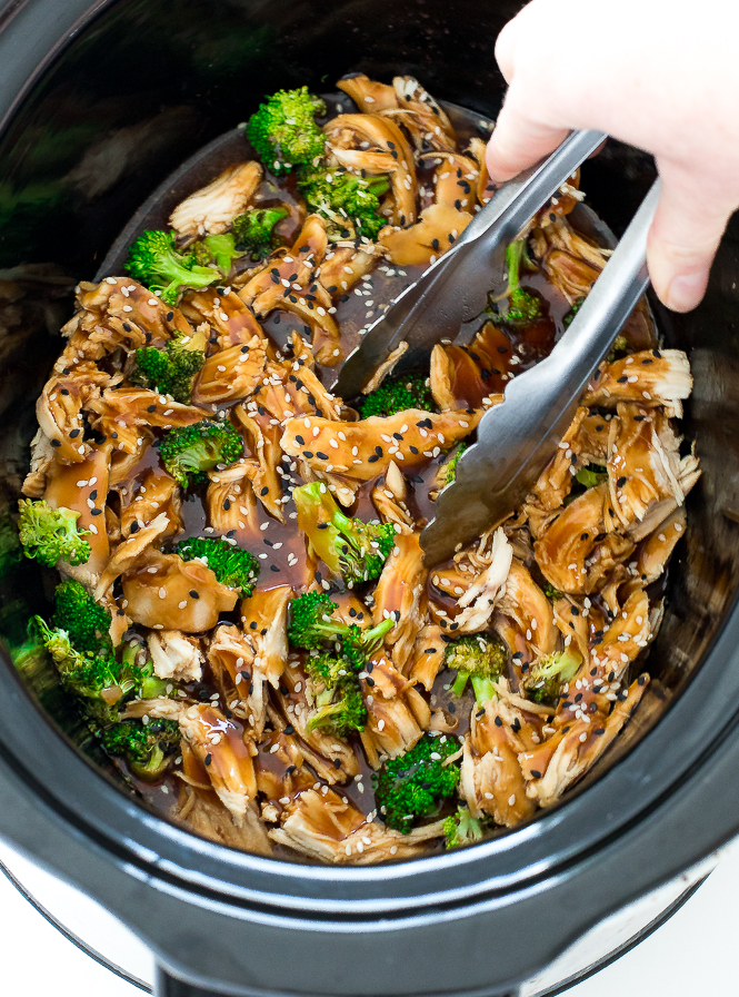 Slow Cooker Mongolian Chicken | chefsavvy.com