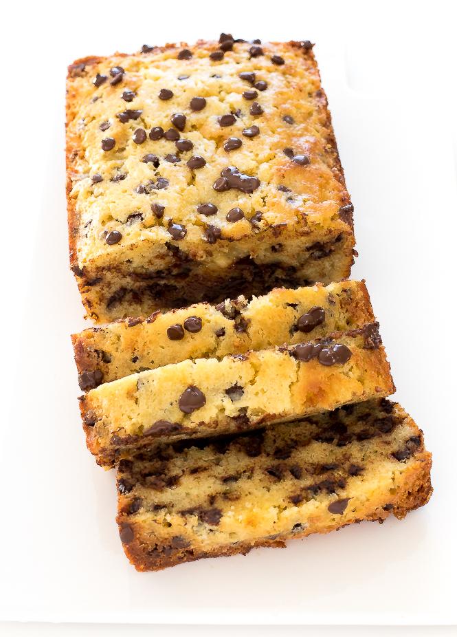 Sour Cream Chocolate Chip Pound Cake | chefsavvy.com