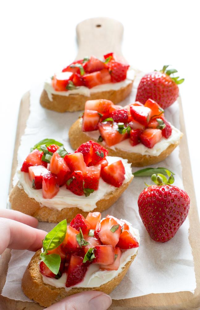 Strawberry Basil Bruschetta