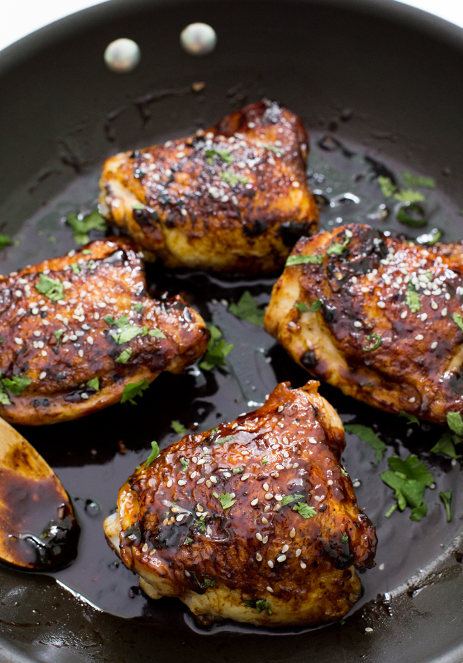 Sticky Asian Chicken Thighs Takeout Inspired Chef Savvy