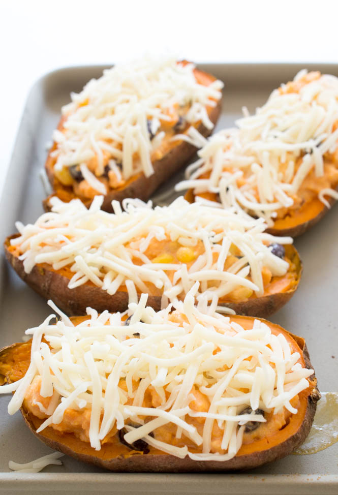 Loaded Mexican Sweet Potato Skins | chefsavvy.com #recipe #sweet #potato #side