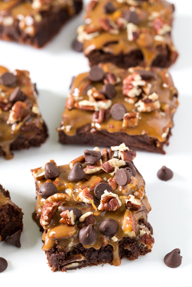 Thick and Fudgey Turtle Brownies