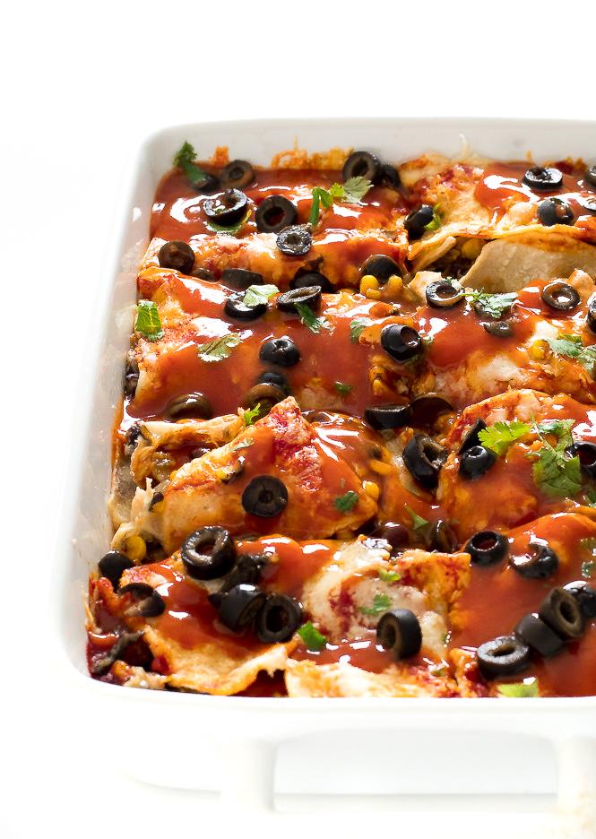 Easy Vegetarian Enchilada Casserole Chef Savvy