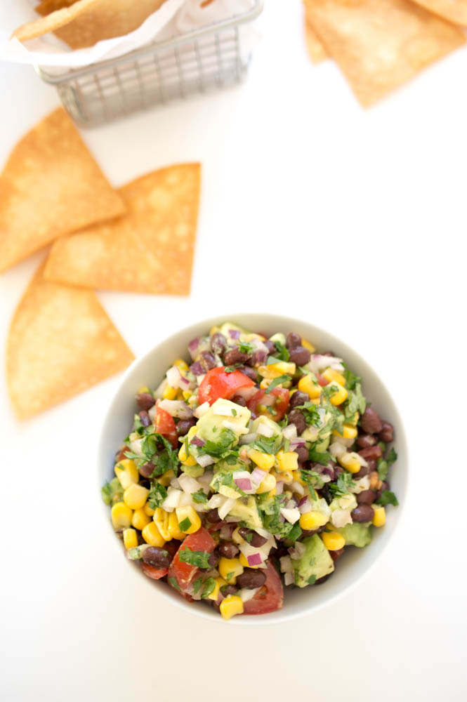 Avocado Corn and Black Bean Salsa | chefsavvy.com #recipe #salsa #avocado #appetizer