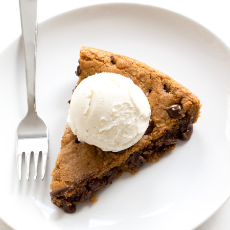 Brown Butter Chocolate Chip Skillet Cookie