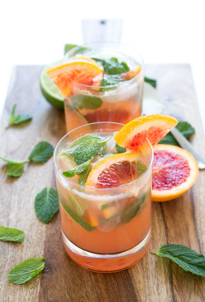 Blood Orange Mojito | chefsavvy.com #recipe #drink #cocktail #mojito