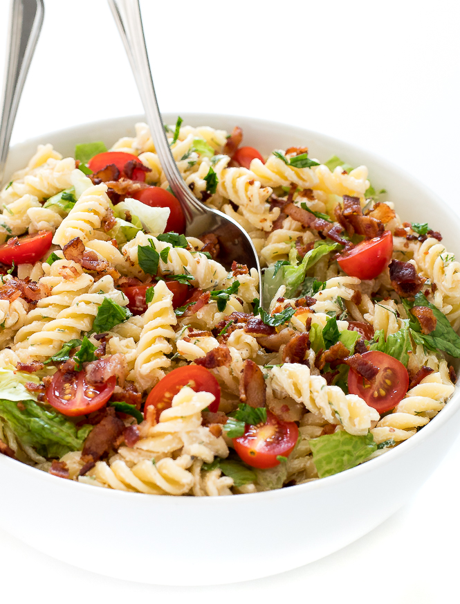 Ranch BLT Pasta Salad | chefsavvy.com