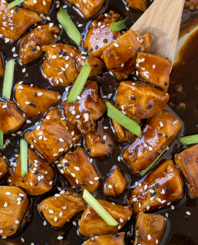 Bourbon chicken chef savvy this bourbon chicken is so much better than the standard food court recipe the chicken turns out tender juicy and loaded with tons of sauce forumfinder