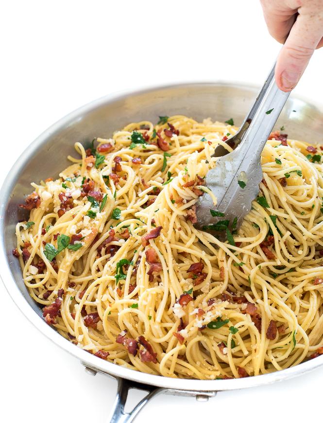 20 Minute Pasta Carbonara 6 Ingredients Chef Savvy