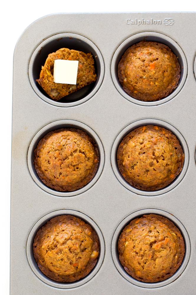 Carrot Walnut Muffins | chefsavvy.com