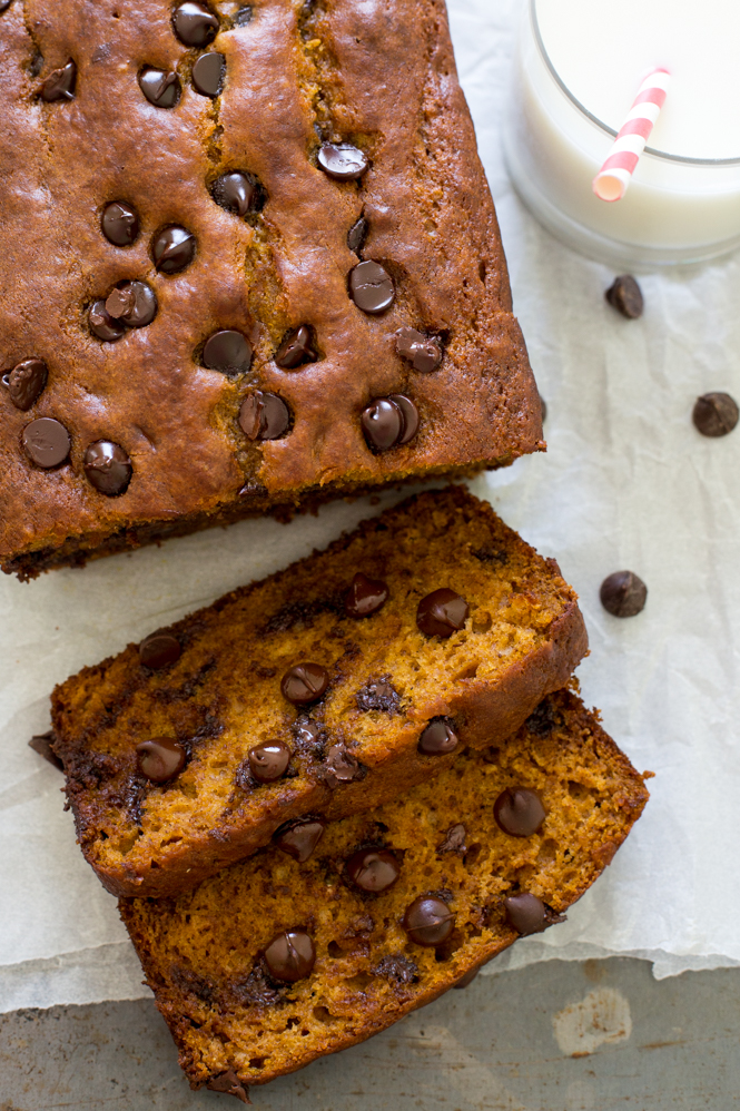 chocolate chip pumpkin bread, see more at http://homemaderecipes.com/cooking-101/10-homemade-bread-recipes/