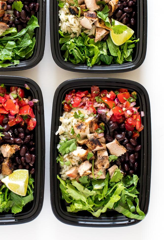 Chicken Burrito Bowls | chefsavvy.com