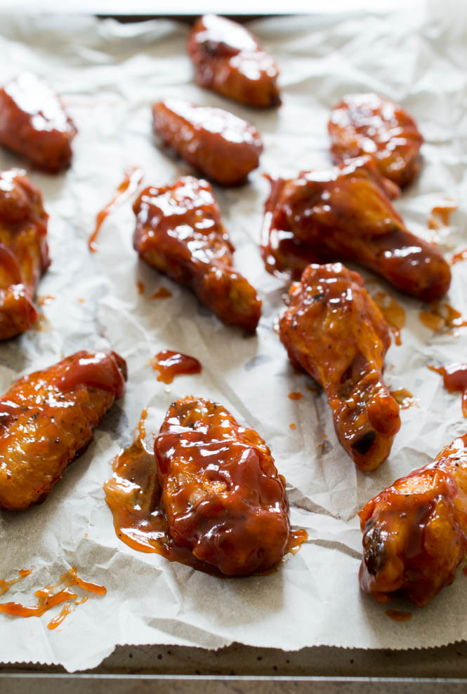 Crispy Baked Honey Chipotle Chicken Wings | chefsavvy.com #chicken #wings #recipe #honey #chipotle #appetizer