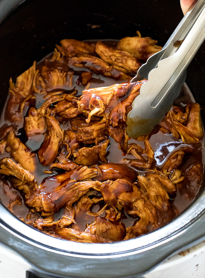 Slow Cooker Barbecue Chicken | chefsavvy.com