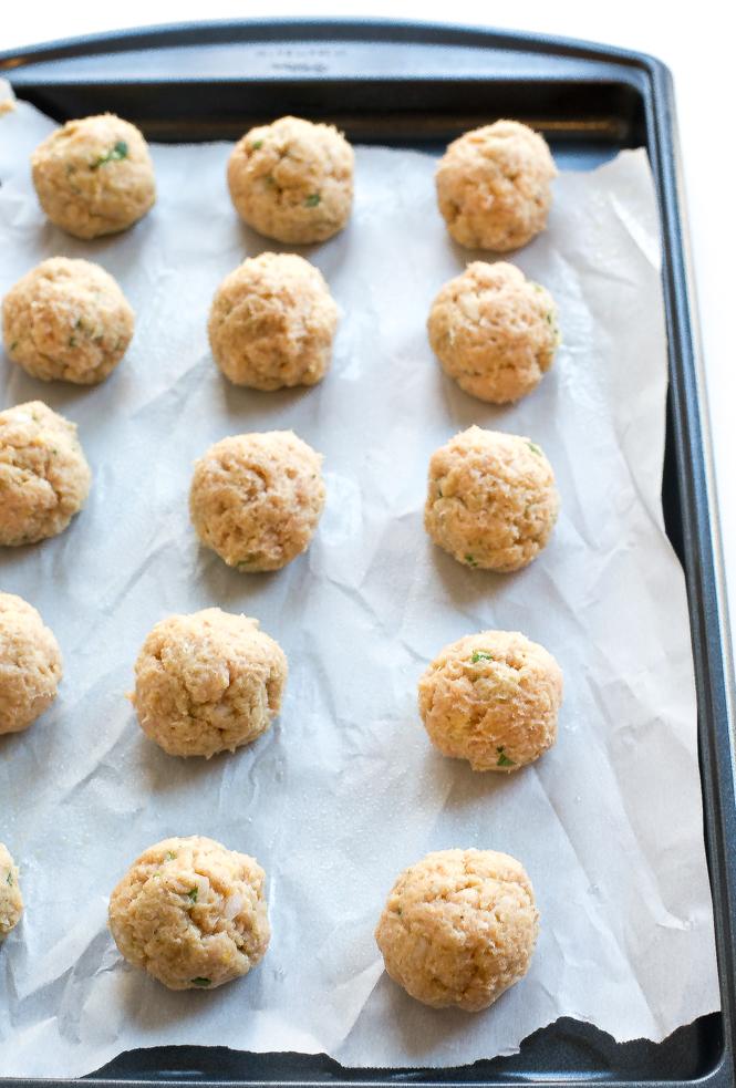 Firecracker Chicken Meatballs | chefsavvy.com