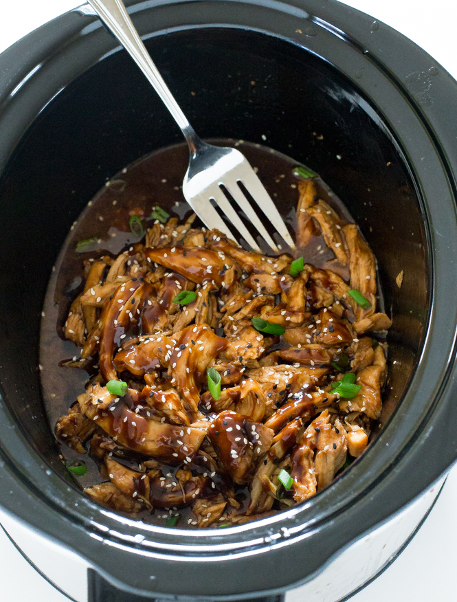 Crockpot Asian Garlic Chicken | chefsavvy.com