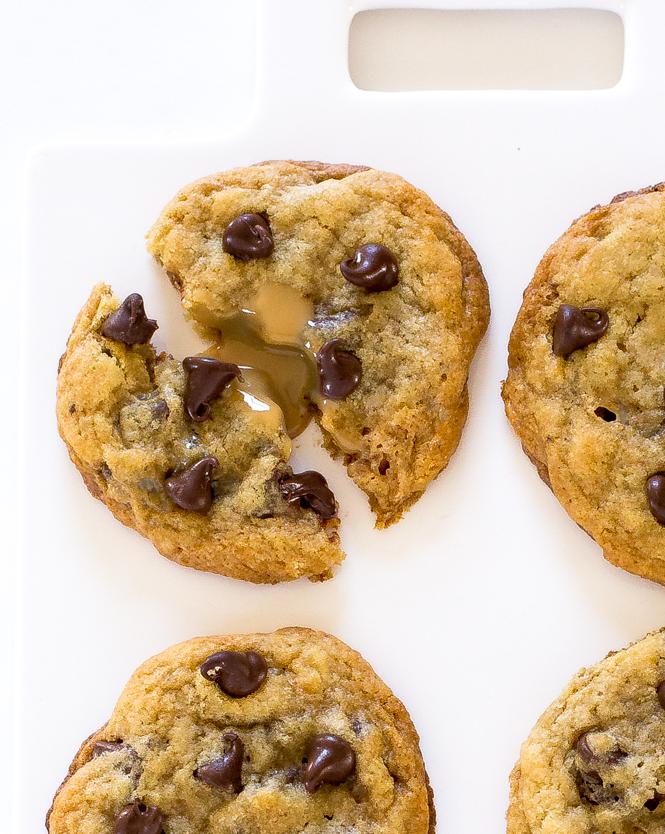 Dulce de leche stuffed Chocolate Chip Cookies