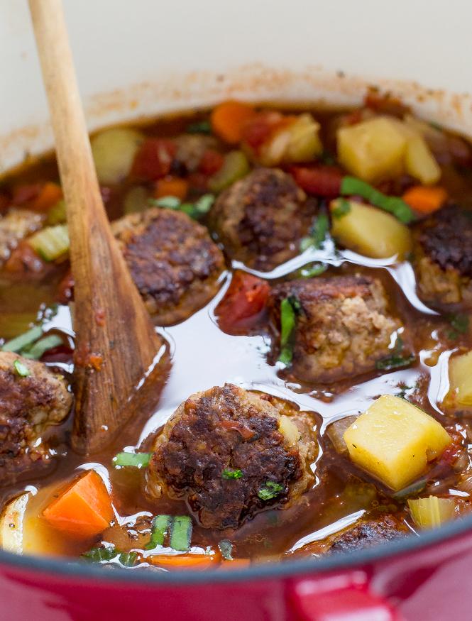 Amazing Italian Meatball Soup