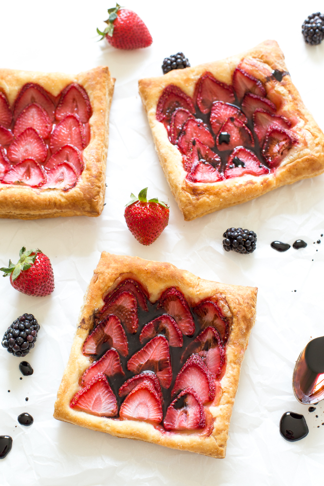strawberry tart is so simple yet so amazing balsamic and strawberries ...