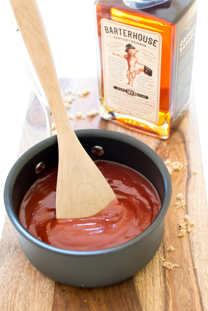 Bourbon Barbecue Sauce | chefsavvy.com #recipe #barbecue #sauce #side
