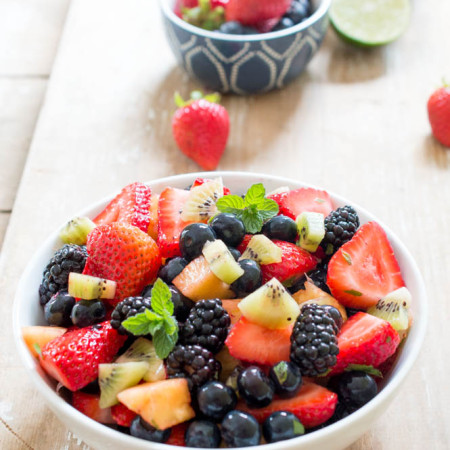 Summer Fruit Salad with Lime, Mint and Honey
