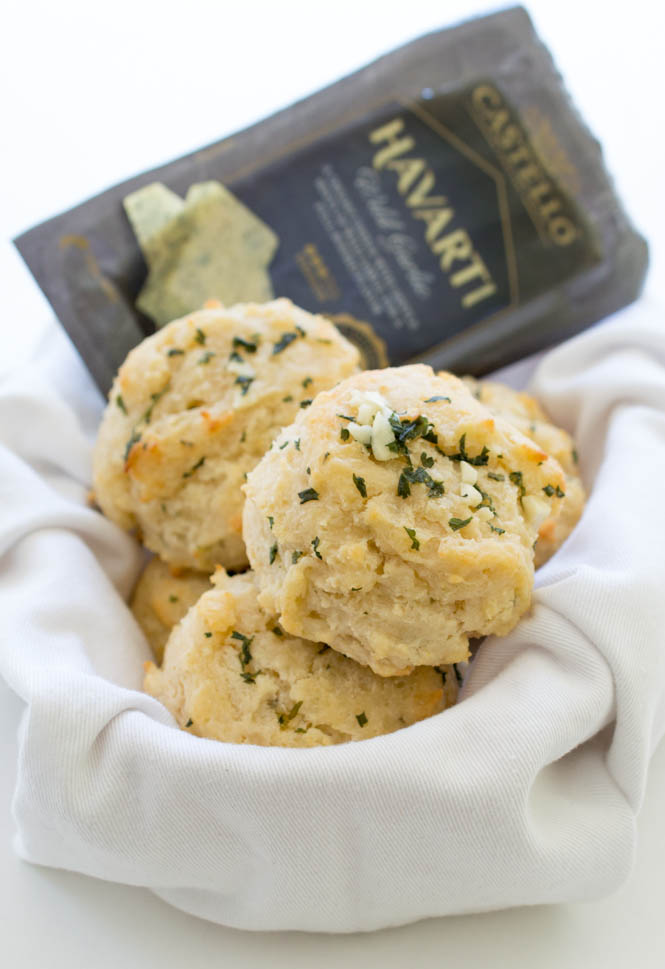 Garlic Cheese Biscuits | chefsavvy.com #recipe #biscuit #side #garlic #cheese