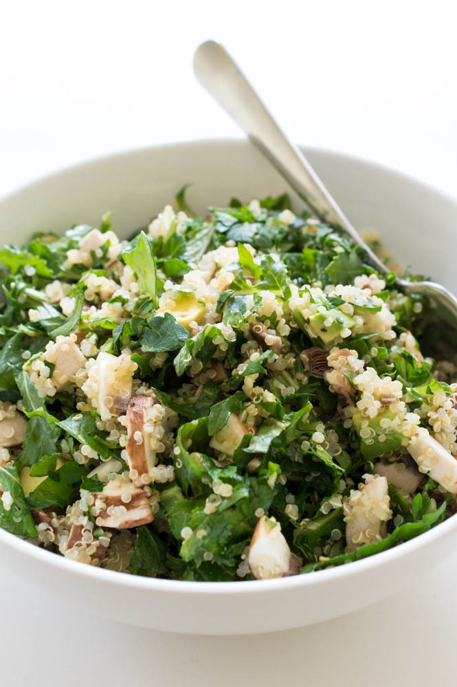Chopped Kale Quinoa and Avocado Salad | chefsavvy.com #recipe #kale #healthy #salad