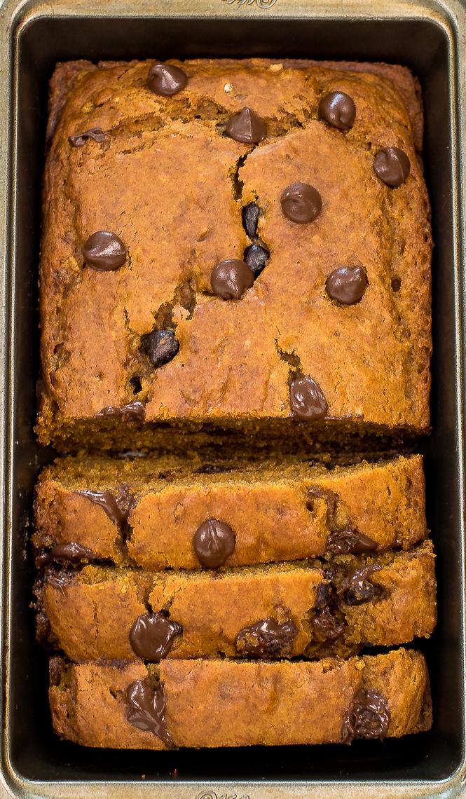 The Best Pumpkin Chocolate Chip Bread   chefsavvy.com