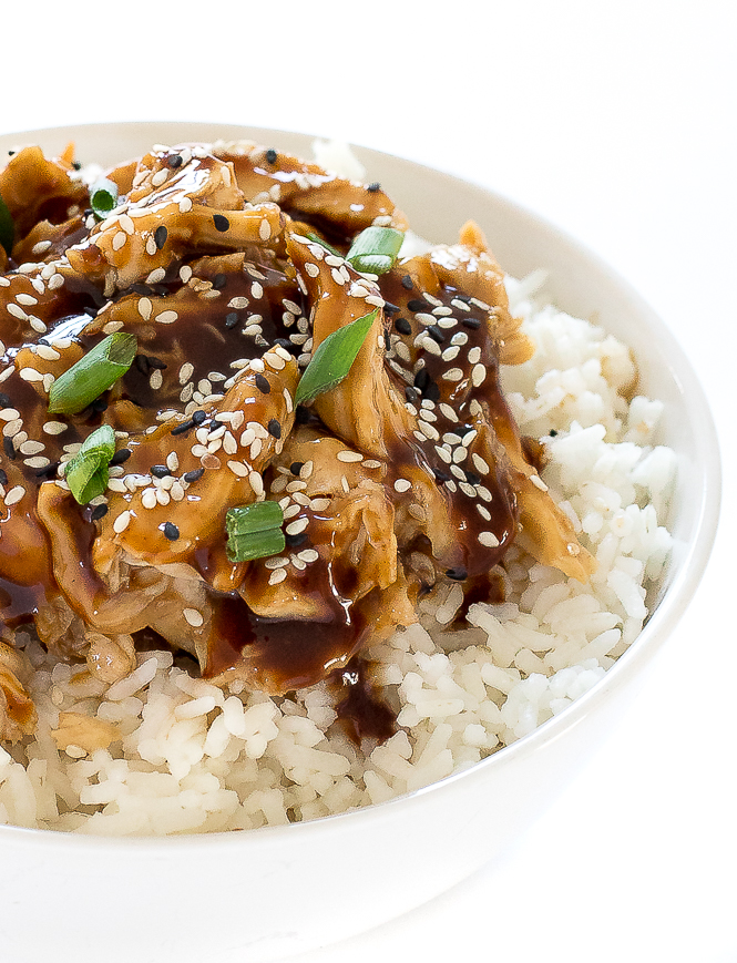 Crockpot Teriyaki Chicken Thighs | chefsavvy.com