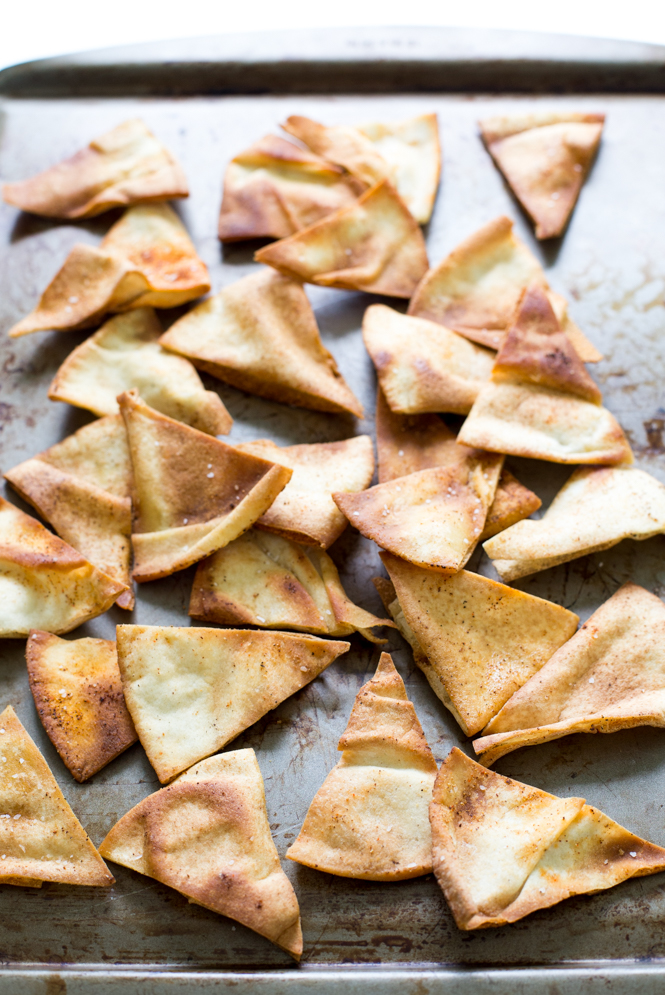 Easy Spicy Baked Pita Chips