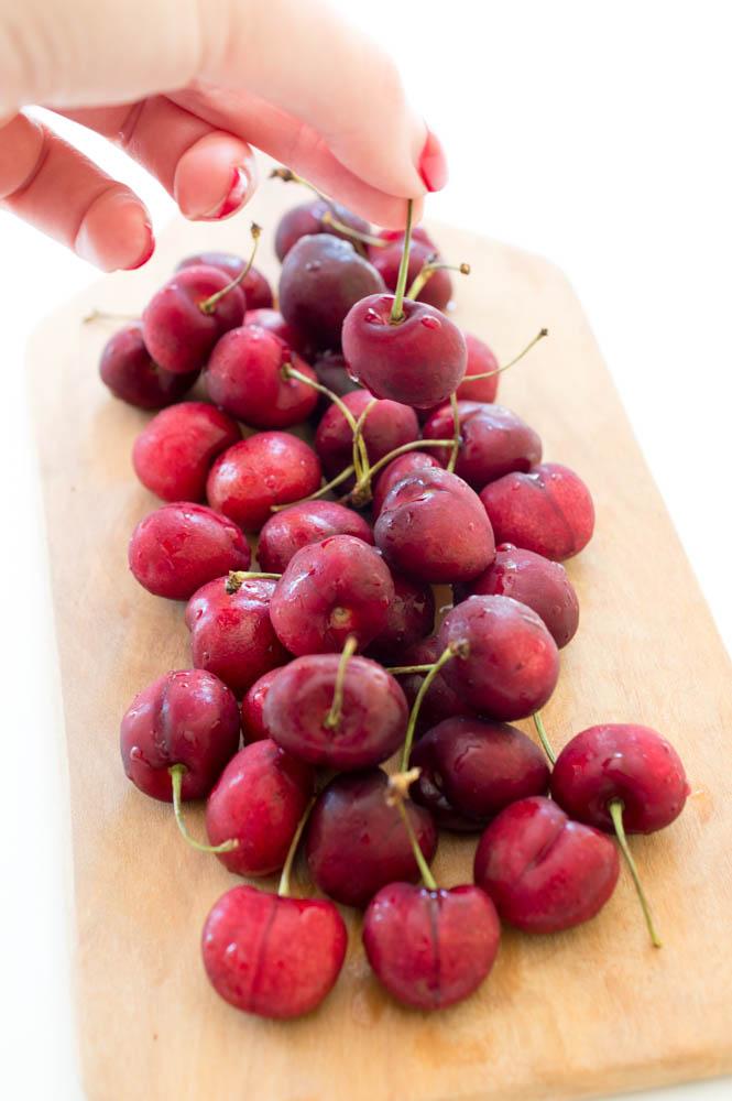 Cherry Pomegranate Limeade Popsicles | chefsavvy.com #recipe #popsicles #limeade #cherry