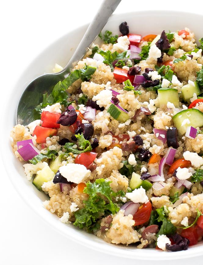 Greek Kale Quinoa Salad 30 Minutes Chef Savvy