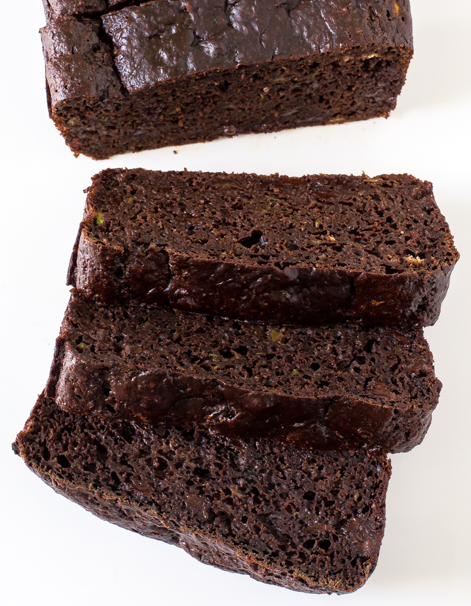 Healthy Double Chocolate Zucchini Bread | chefsavvy.com