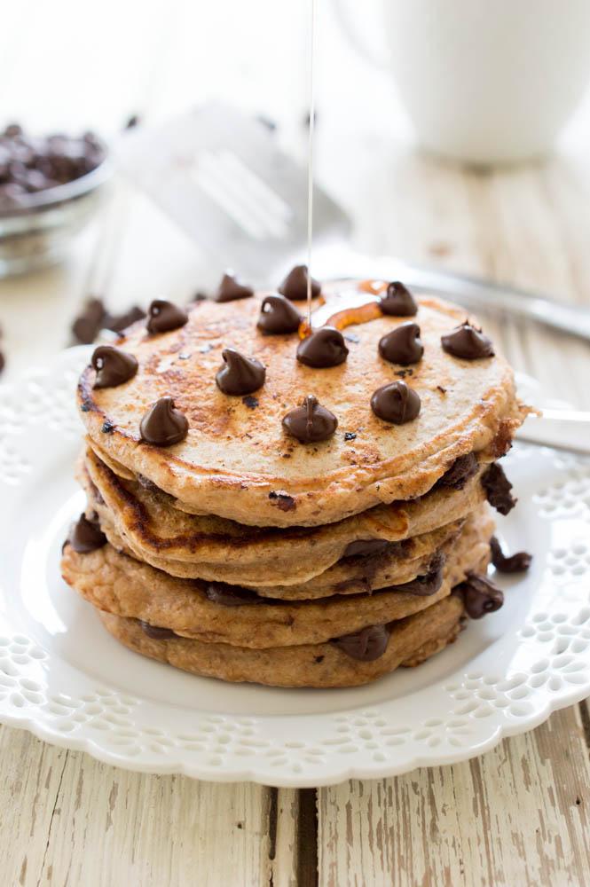 Chocolate Chip Pancakes | chefsavvy.com