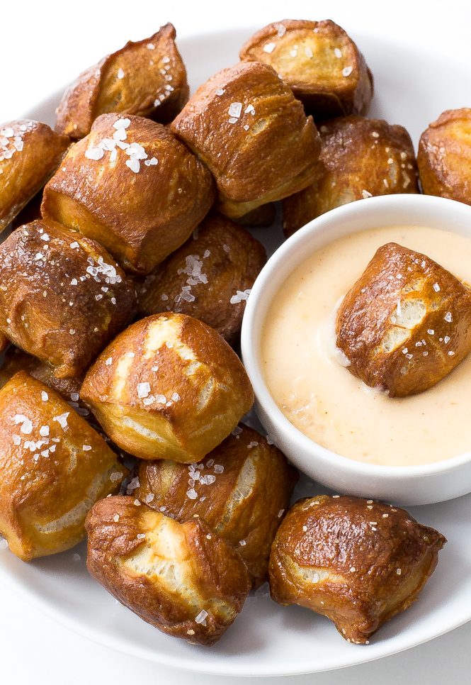 Pretzels with Homemade Cheese Sauce | chefsavvy.com