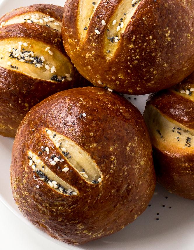 Pretzel Rolls - Chef Savvy